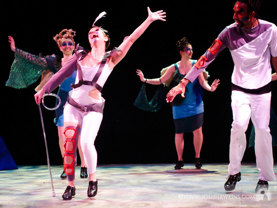 """Chicago Tap Theatre's production """"Changes"""" - A science fiction tap dance opera featuring the music of David Bowie at Stage 773 in Chicago (Josh Hawkins)"""