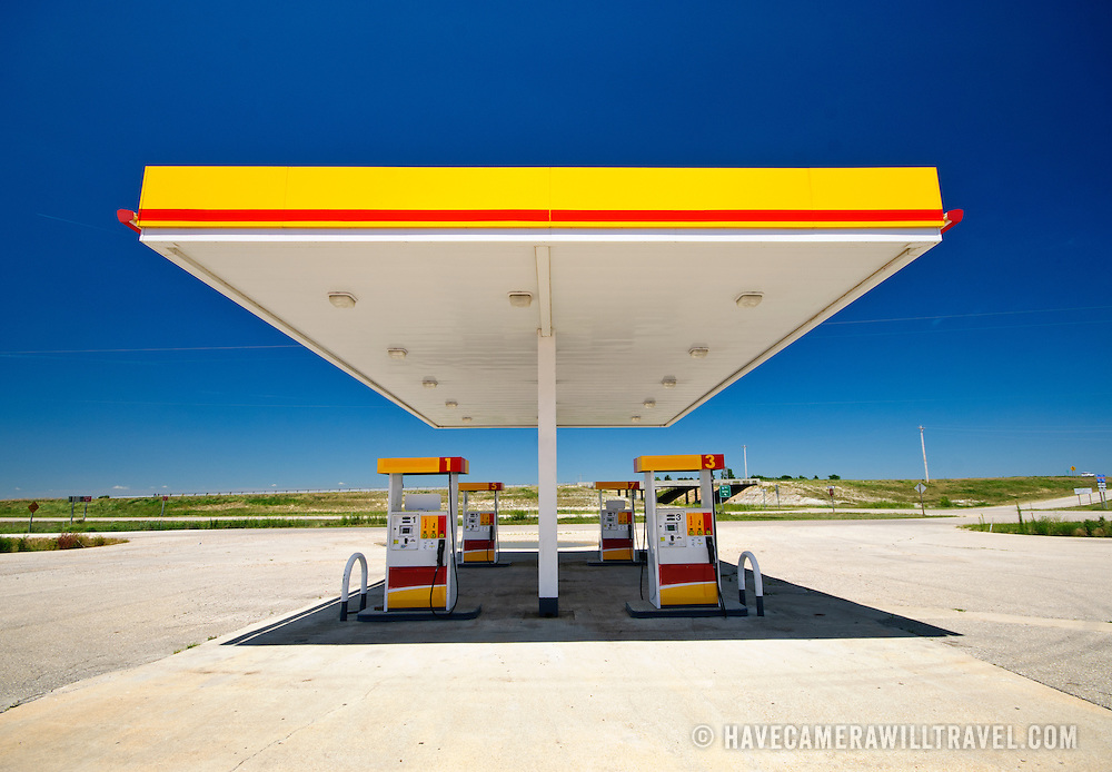 An empty gas (petrol) station (David Coleman)