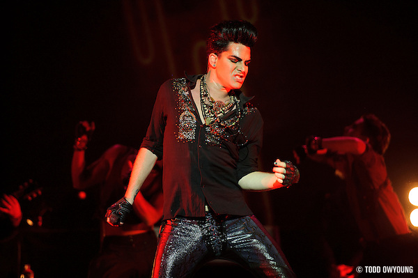 Adam Lambert Performing On August 8, 2010 at the Pageant in St. Louis. (TODD OWYOUNG)