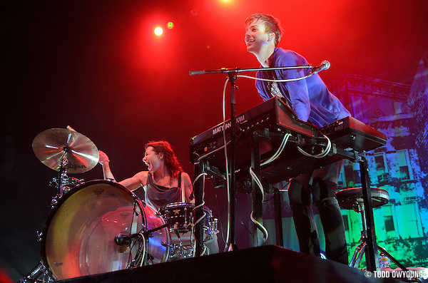 Matt & Kim performing at the Pageant in St. Louis, Missouri on June 23, 2011. © Todd Owyoung. (Todd Owyoung)