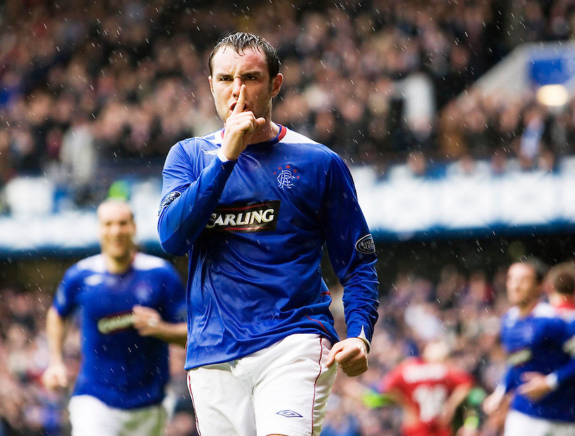 17TH MAR 2007, RANGERS V ABERDEEN AT IBROX STADIUM, GLASGOW, KRIS BOYD CELEBRATES SCORING HIS SECOND GOAL, ROB CASEY PHOTOGRAPHY. (ROB CASEY/ROB CASEY PHOTOGRAPHY)