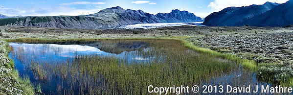 Summer Panorama of Skaftafell National Park. Composite of 4 images taken with a Leica X2 camera (ISO 100, 24 mm, f/11, 1/125 sec) combined using AutoPano Giga Pro. (David J Mathre)
