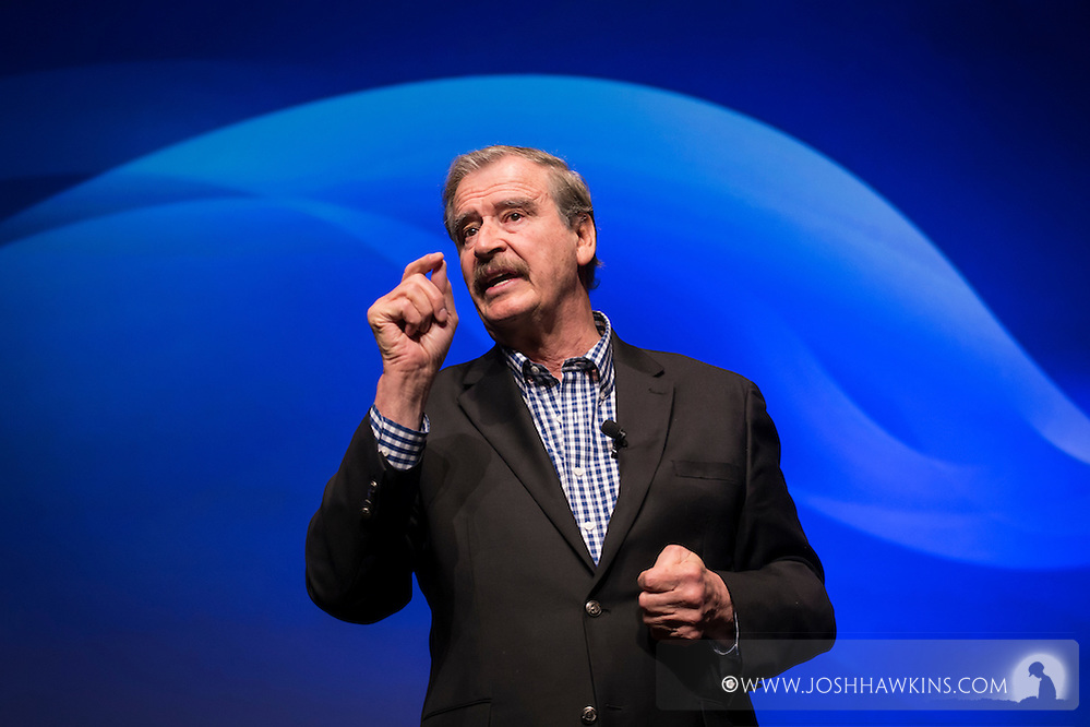 UST Global Conference, speaking Vicente Fox, former President of Mexico (Josh Hawkins)