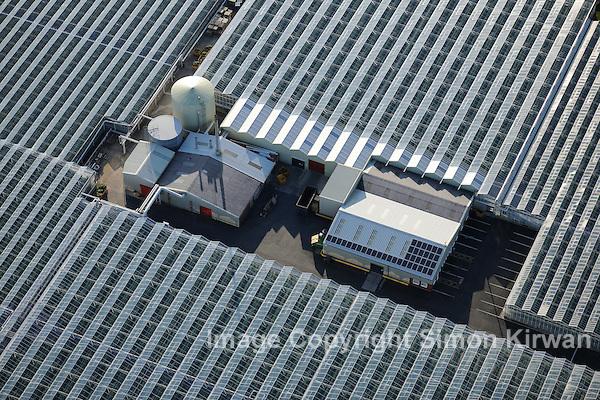Solar PV Arrays, Nursery, West Lancs - Aerial Photography By Simon Kirwan