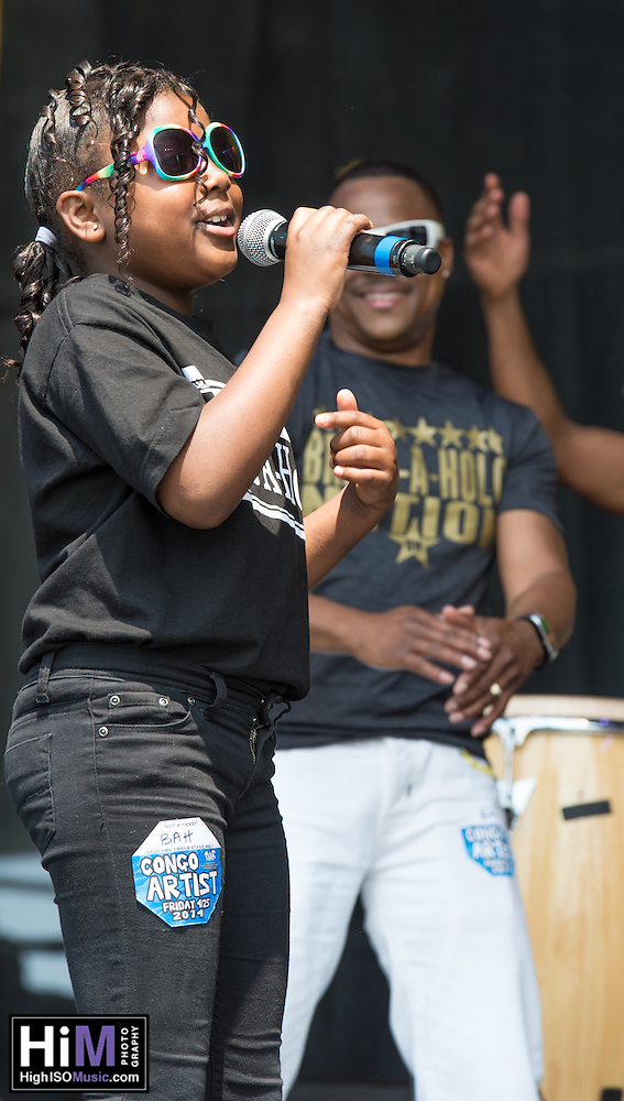 Brassaholics Brass Band performing on Day 1 of the 2014 New Orleans Jazz and Heritage Festival. (HIGH ISO Music, LLC)
