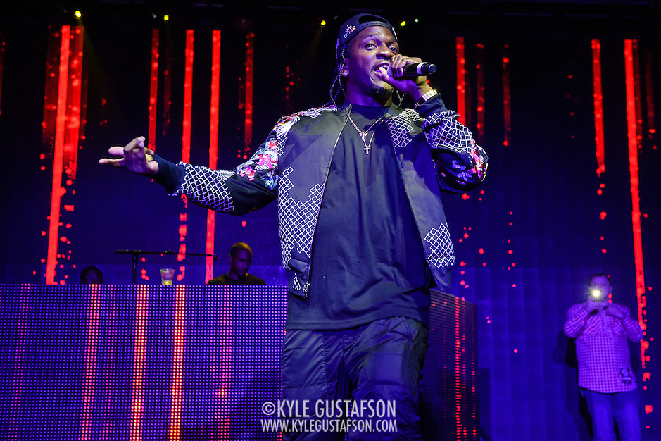 WASHINGTON, DC - January 12th, 2014 - Rapper Pusha T performs at Echostage in Washington, D.C. A longtime member of the duo The Clipse, Pusha T's solo career took off after a guest spot on Kanye West's classic 2010 album My Beautiful Dark Twisted Fantasy . (Photo by Kyle Gustafson /  For The Washington Post) (Kyle Gustafson/For The Washington Post)