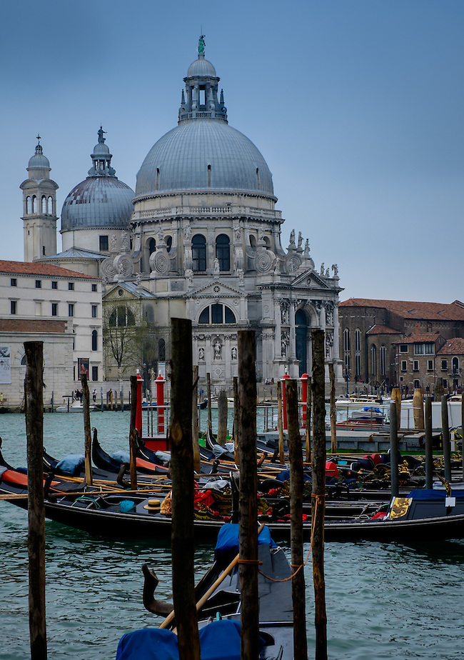 VENICE, ITALY - CIRCA MAY 2015: View of the Basilica Santa Maria della Salute and the Gran Canal in Venice (Daniel Korzeniewski)