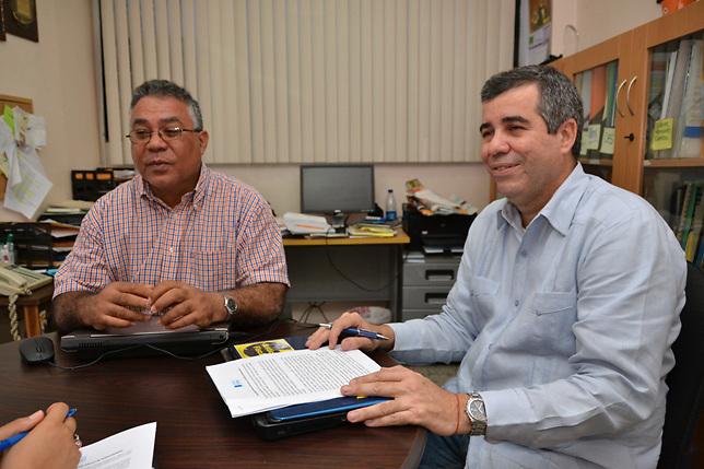 Roque Féliz y Pablo Mella, del Centro Bonó