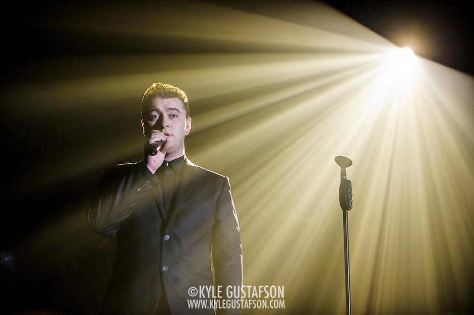 "WASHINGTON, DC - September 16th, 2014 - Sam Smith performs at Echostage in Washington, D.C. Smith gained notoriety in 2012 when he appeared on UK electronic act Disclosure's breakthrough single ""Latch."" His subsequent debut album, In The Lonely Hour, reached number two in the Billboard 200 album chart. (Photo by Kyle Gustafson / For The Washington Post) (Kyle Gustafson/For The Washington Post)"