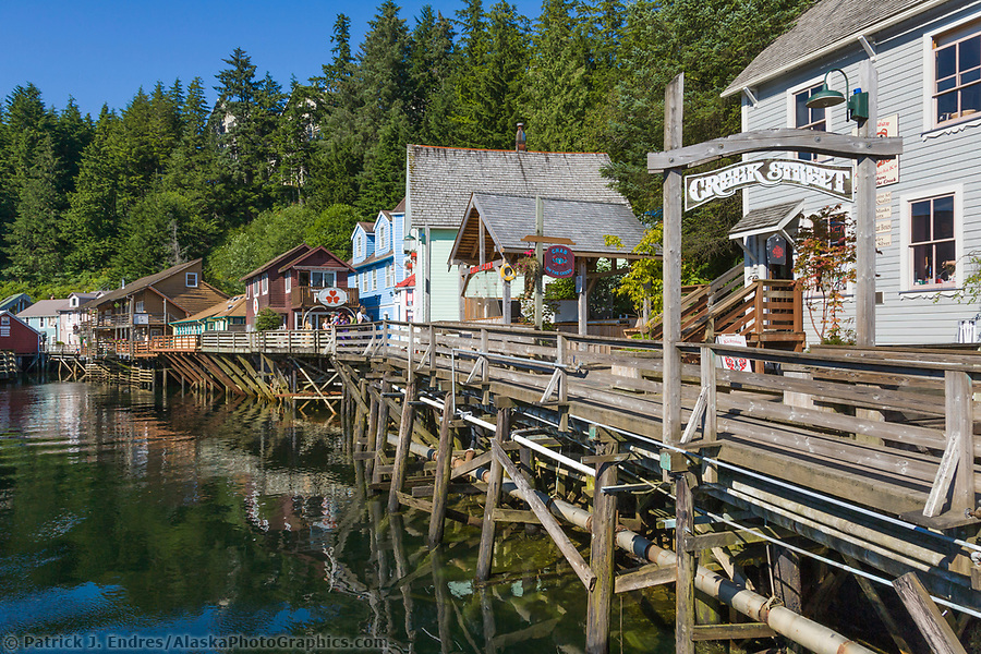Ketchikan Alaska photos: Famous Creek Street in downtown Ketchikan, southeast, Alaska. (Patrick J. Endres / AlaskaPhotoGraphics.com)