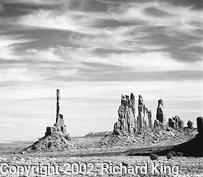 Totem Pole and Yei Bi Chai, Monument Valley, Navajo Nation (Richard King)