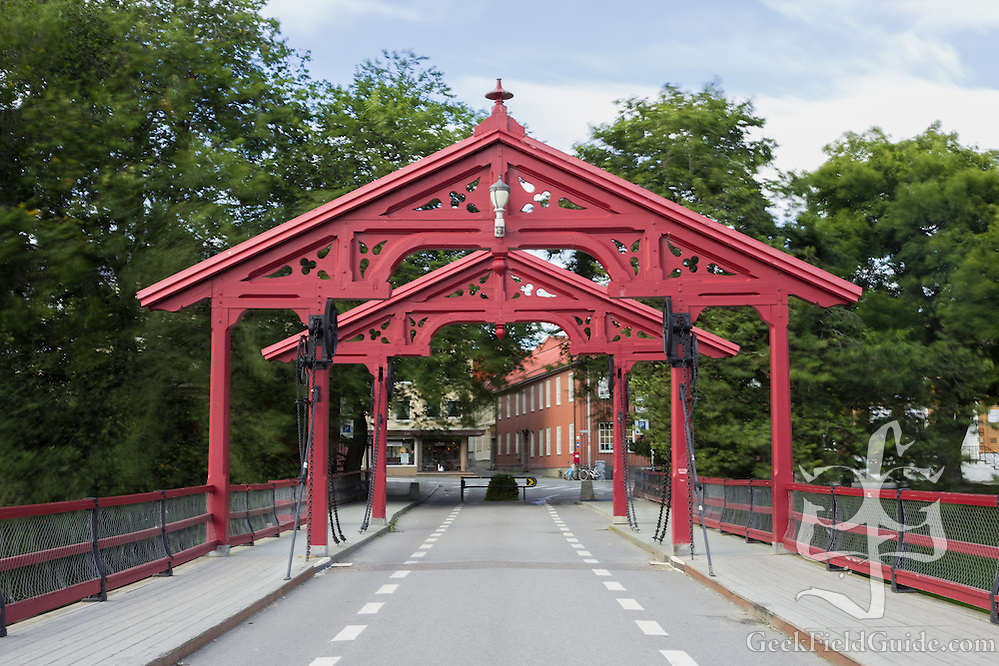 Old Town Bridge, in Trondheim, Norway, which crosses the Nidelva River. https://en.wikipedia.org/wiki/Old_Town_Bridge (Warren Schultz)