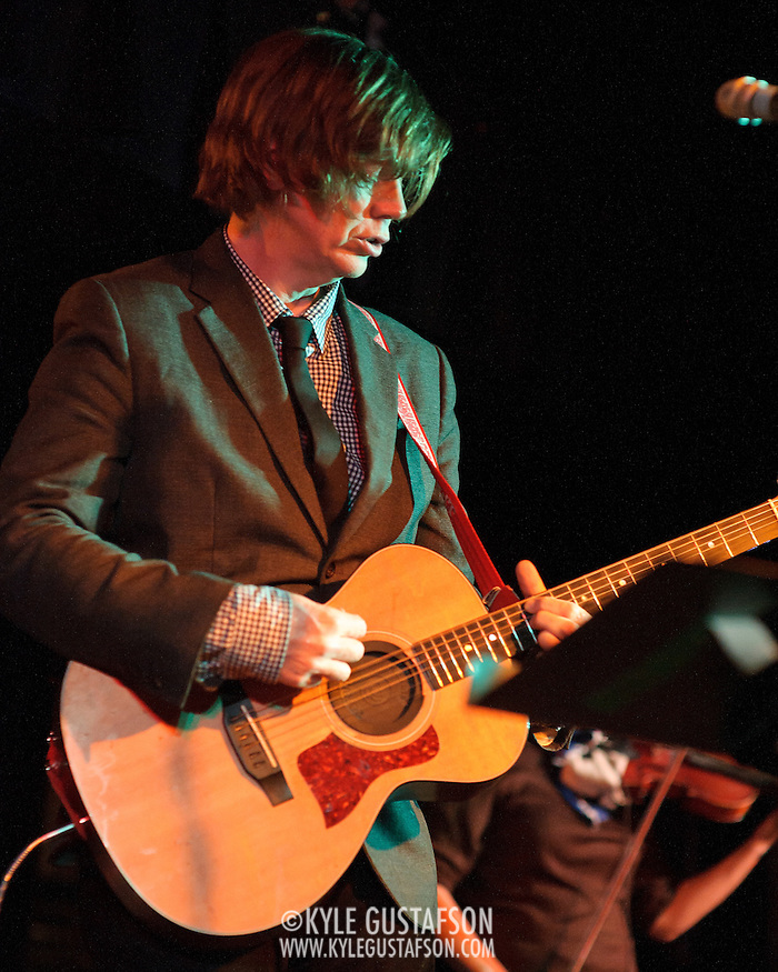 WASHINGTON, DC - February 6th, 2012 - Former Sonic Youth guitarist and songwriter Thurston Moore performs at the Black Cat in Washington, D.C.  Moore released his third solo album, Demolished Thoughts, in May of 2011. (Photo by Kyle Gustafson/For The Washington Post) (Kyle Gustafson/FTWP)