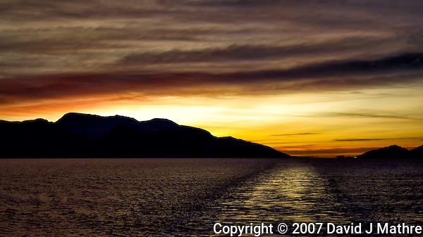 Dusk After Leaving Ålesund. Image taken with a Nikon D2xs and 35 mm f/2 lens (ISO 400, 35 mm, f/2, 1/800 sec). Raw Image Processed with Capture One 7 Pro. (David J. Mathre)