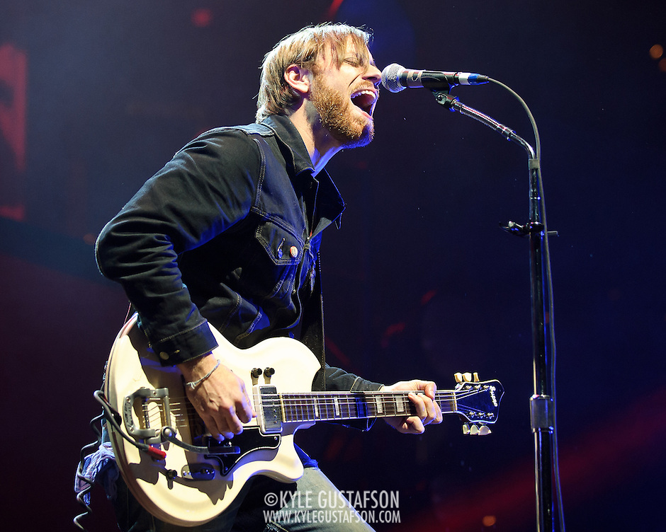 WASHINGTON, DC - March 9th, 2012 -  Dan Auerbach of The Black Keys performs during a sold out show at the Verizon Center in Washington, D.C.  The duo's seventh studio album, El Camino, was released last December and debuted at number 2 of the Billboard 200. (Photo by Kyle Gustafson/For The Washington Post) (Kyle Gustafson/FTWP)