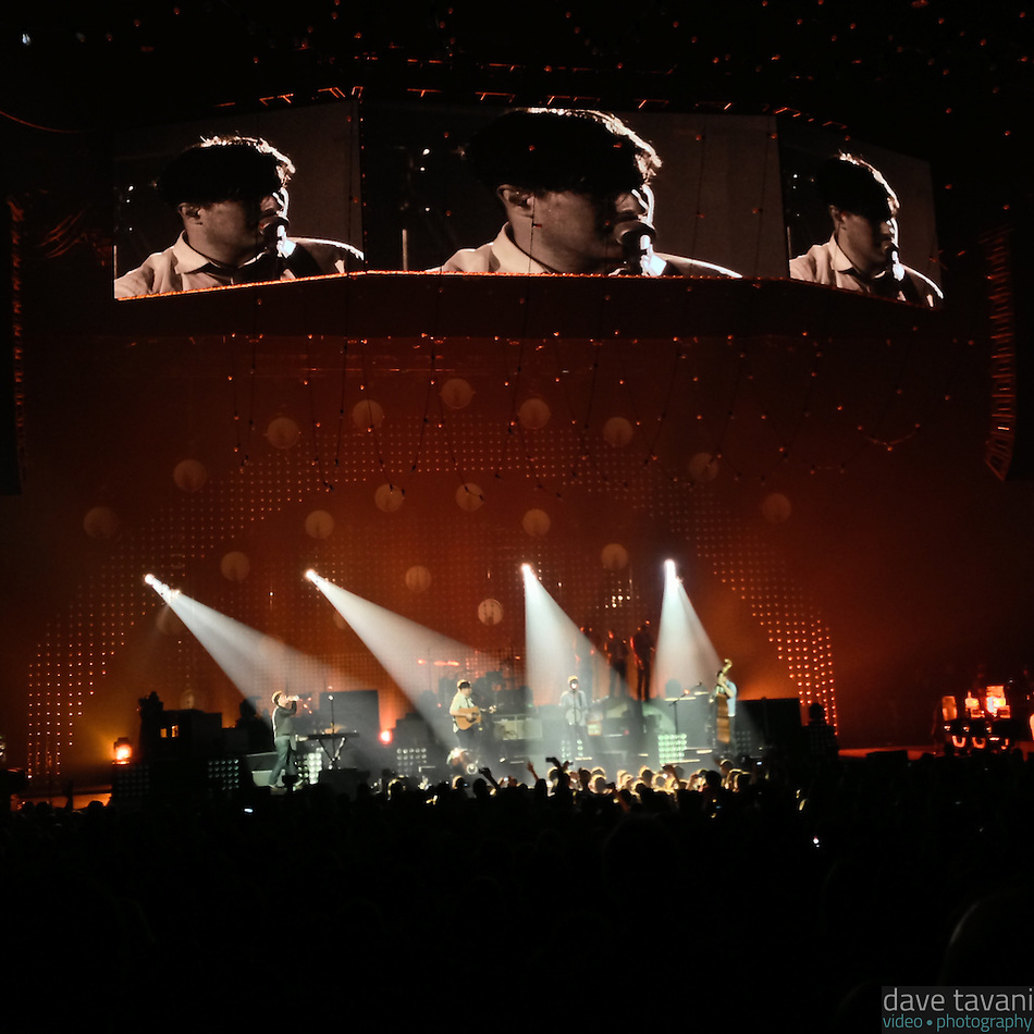 Mumford & Sons perform live at the Susquehanna Bank Center in Camden, New Jersey on February 16, 2013. (Dave Tavani)