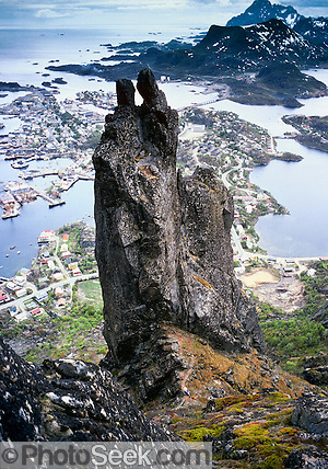 e Svolvaer Goat (1955 feet high), Lofoten Islands, above the Arctic Circle, Norway