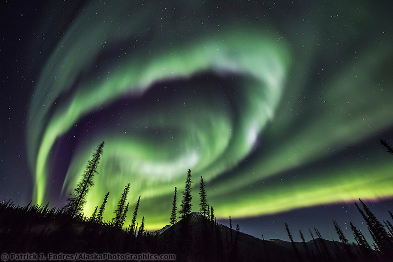 The aurora borealis lights the nights sky in Alaska's Brooks range, arctic, Alaska (Patrick J Endres / AlaskaPhotoGraphics.com)