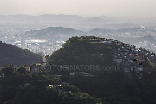 The Maracana stadium in Rio de Janeiro, Brazil, seen from the Miranta Dona Marta. Photo by Andrew Tobin/Tobinators Ltd (Andrew Tobin/Tobinators)
