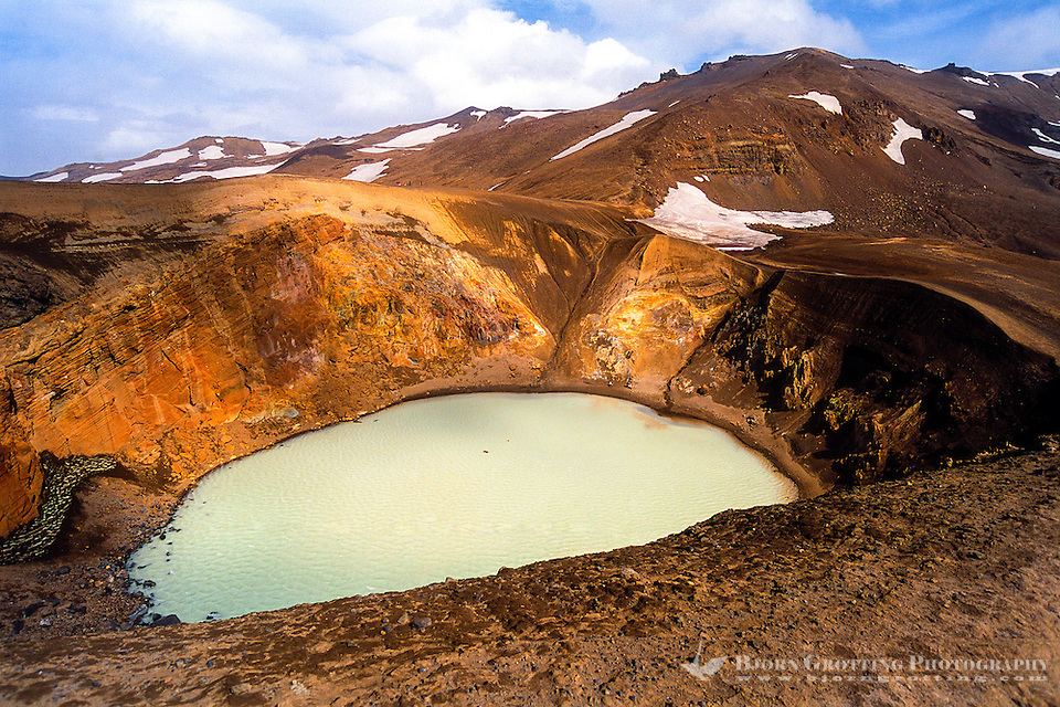 Iceland. Viti explosion crater on the north east shore of Oskjuvatn, Askja. (Photo Bjorn Grotting)