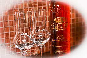 Two glasses with Pillitteri red icewine (Ian C Whitworth)