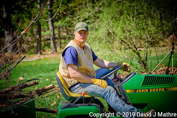 Bjorn clearing brush. Image taken with a Fuji X-H1 camera and 80 mm f/2.8 macro lens (DAVID J MATHRE)