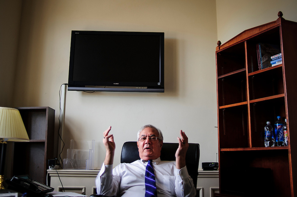 Rep. Barney Frank (D-MA) on one of his last days as a member of Congress. (Pete Marovich/Pete Marovich Images)