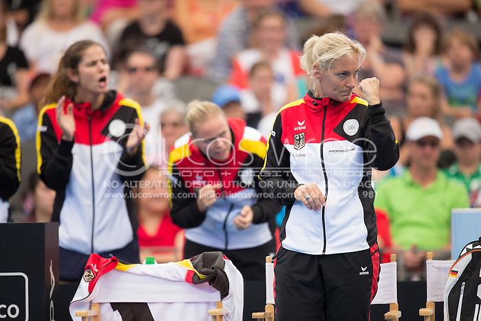 Barbara Rittner (GER), April 19, 2014 - TENNIS : Fed Cup, Semi-Final, Australia v Germany. Pat Rafter Arena, Brisbane, Queensland, Australia. Credit: Lucas Wroe (Lucas Wroe)