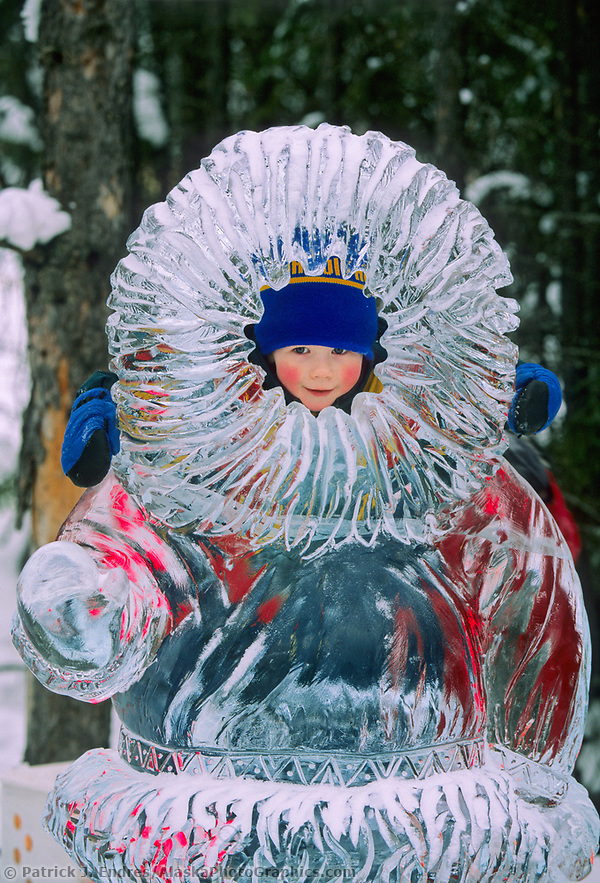 Ice sculpting photos: World Ice Art Championship, Kiddy park statue, Fairbanks, Alaska (Patrick J. Endres / AlaskaPhotoGraphics.com)