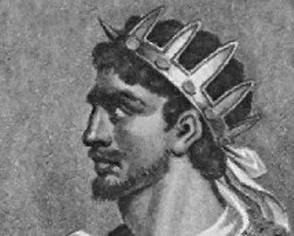 Retrato de Atila, Rey de los Hunos, cuyo espíritu ronda por la Ciudad Colonial, cada fin de año con el Colonial Fest. El retrato es de Frescard Malton, siglo 19.