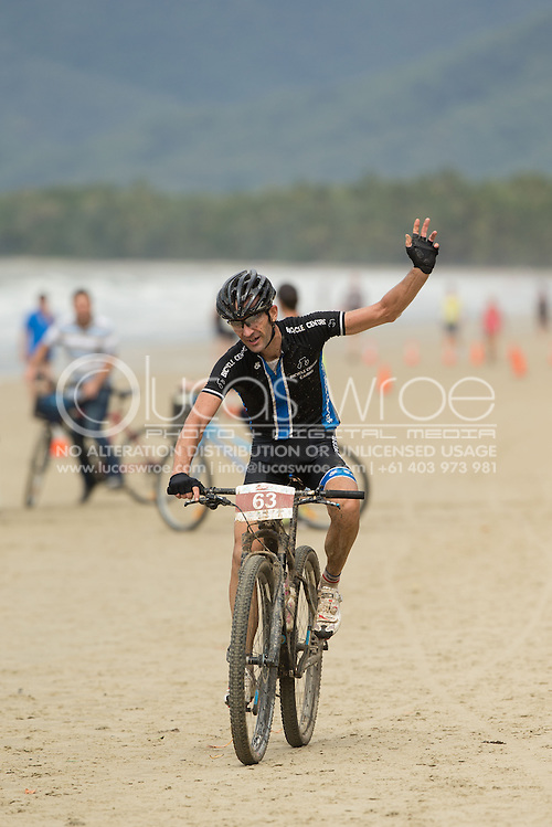 ADAM COBAIN Second Place 70km Challenge In A Time Of 02:55:50, June 1, 2014 - MOUNTAIN BIKE : RRR Mountain Bike Challenge, Cairns Airport Adventure Festival, Four Mile Beach, Port Douglas, Queensland, Australia. Credit: Lucas Wroe (Lucas Wroe)