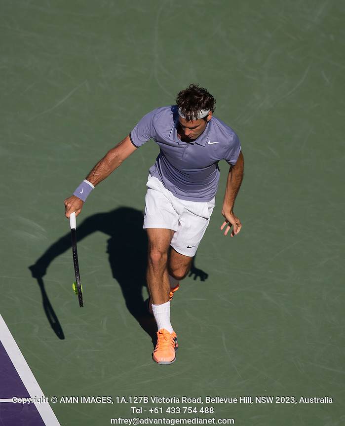 ROGER FEDERER (SUI) Tennis - Sony Open -  Miami -   ATP-WTA - 2014  - USA  -  25 March 2014.  © AMN IMAGES (FREY/FREY- AMN Images)