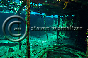 Doc Paulson amidships interior, Doc Paulson, Grand Cayman (StevenWSmeltzer.com)