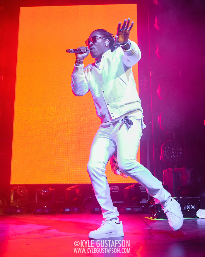 SILVER SPRING, MD - February 29th, 2016 - Atlanta rapper Future performs at the Fillmore Silver Spring in Silver Spring, MD.  Earlier this month Future released his fourth studio album, Evol, which debuted at #1 on the Billboard 200 album charts. It was his third successive #1 album.  (Photo by Kyle Gustafson / For The Washington Post) (Kyle Gustafson/For The Washington Post)