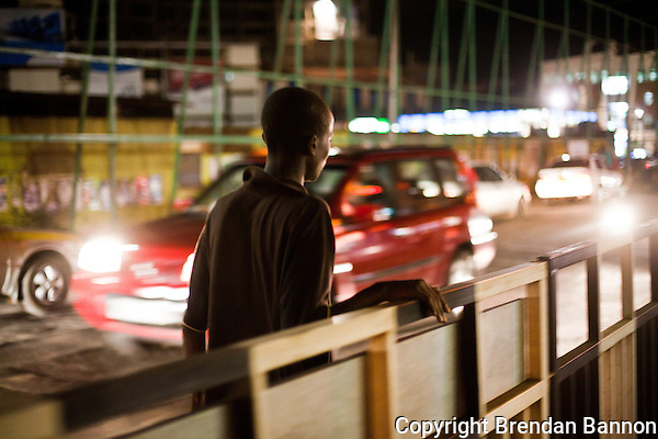 Evans Obanga, a 14 year old living on the streets of Nairobi's Westlands Neighborhood. (Photographer: Brendan Bannon)