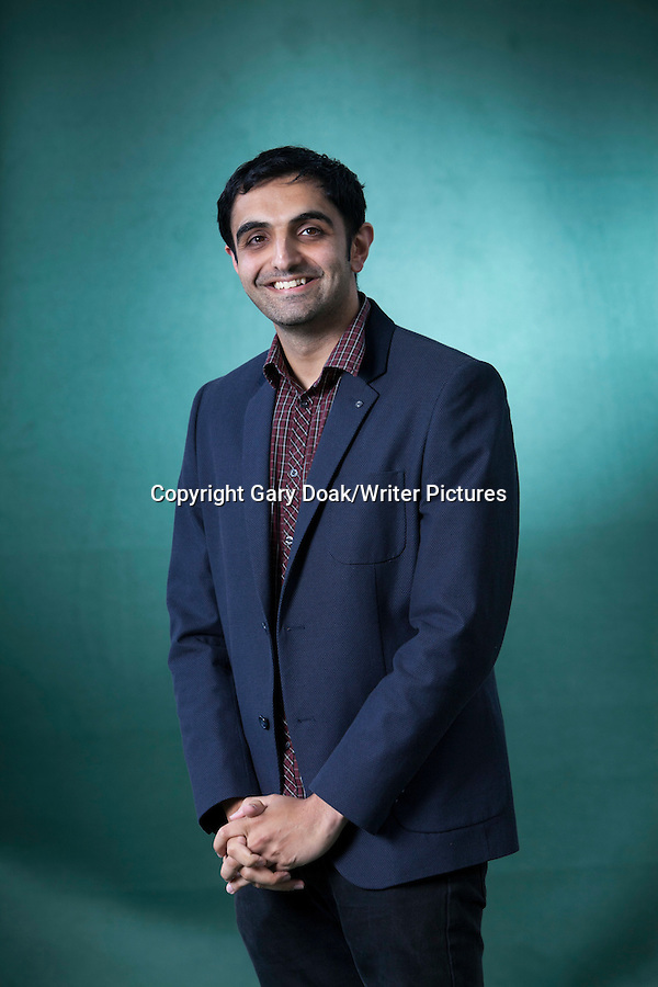 Sunjeev Sahota, the British novelist, at the Edinburgh International Book Festival 2015. Edinburgh, Scotland. 25th August 2015 Photograph by Gary Doak/Writer Pictures WORLD RIGHTS (Must Credit: Gary Doak/Writer Pictures)