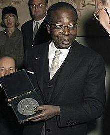 Léopol Sédar Senghor, poeta, ex presidente de Senegal