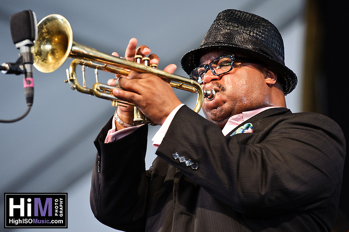 Nicholas Payton's set at  Jazz Fest 2011 in New Orleans, LA on day 6. (Golden G. Richard III)