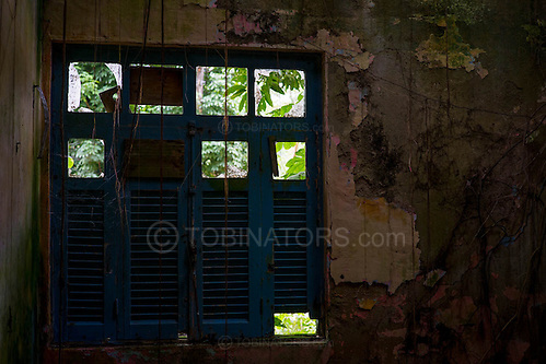 An abandoned house in Dois Rios on the island of Ilha Grande, Brazil. Photo by Andrew Tobin/Tobinators Ltd (Andrew Tobin/Tobinators)
