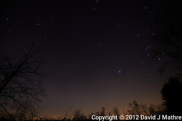 Late Fall 02:20 AM Sky in New Jersey. Image taken with a Nikon D4 and 14-24 mm f/2.8G lens (ISO 200, 14 mm, f/2.8, 59 sec). (David J Mathre)