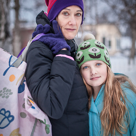 Patty Mcloughlin and daughter, Raquelle, in Anchorage's South Addition neighborhood  patty99501@gmail.com (Clark James Mishler)