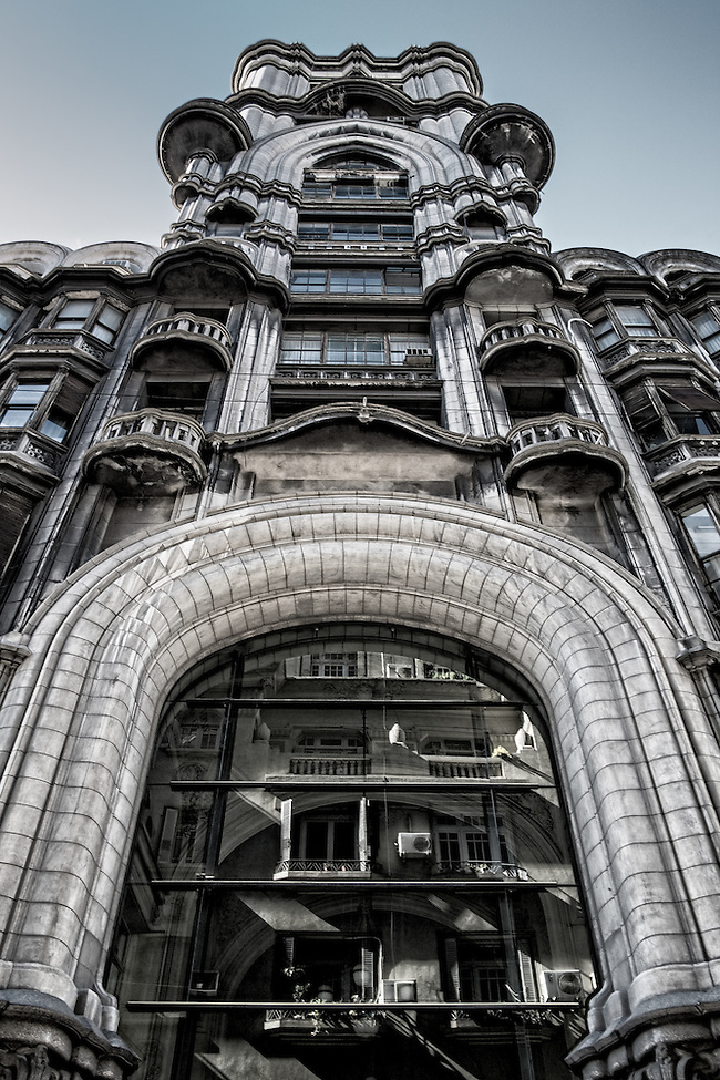 BUENOS AIRES - CIRCA NOVEMBER 2012: Facade of the Palacio Barolo, Circa November 2012. The building is landmark on the city, located in Avenida de Mayo when it was built was the tallest building in city and South America. (Daniel Korzeniewski)