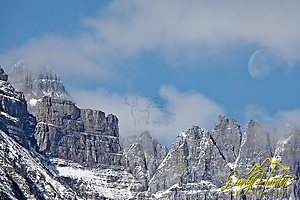 "Mount Wilbur, Full Moon, new snow, Autumn at Glacier National Park (© Daryl Hunter's ""The Hole Picture""/Daryl L. Hunter)"