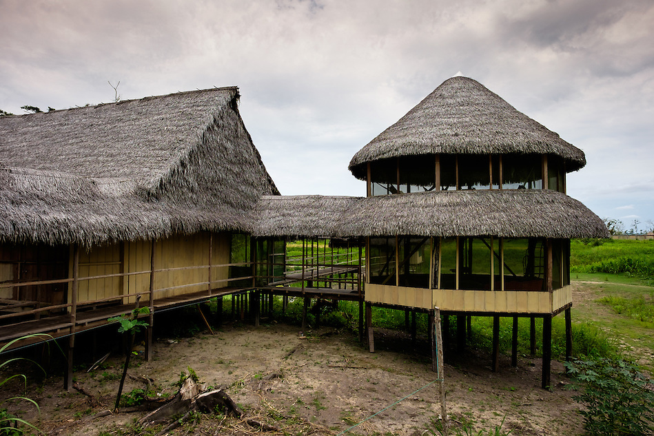 LORETO, PERU - CIRCA OCTOBER 2015: Lodge Curuhuinsi in Puerto Miguel, in the Yarapa river in the Peruvian Amazon. (Daniel Korzeniewski)