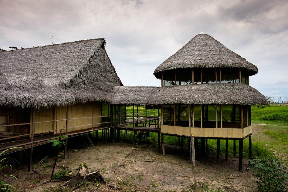 LORETO, PERU - CIRCA OCTOBER 2015: Lodge Curuhuinsi in Puerto Miguel, in the Yarapa river in the Peruvian Amazon. (Daniel Korzeniewski)