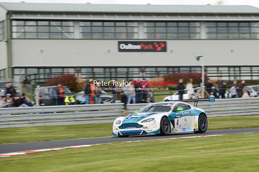 #4 Ahmad Al Harthy/Michael Caine - Oman Racing Team, Aston Martin Vantage GT3 in qualifing for the 2014 British GT Championship at Oulton Park, Little Budworth, Chesihre, United Kingdom. 19th & 20th April 2014. World Copyright: Peter Taylor/PSP. Copy of publication required for printed pictures. Every used picture is fee-liable. http://archive.petertaylor-photographic.co.uk (Taylor/PSP)
