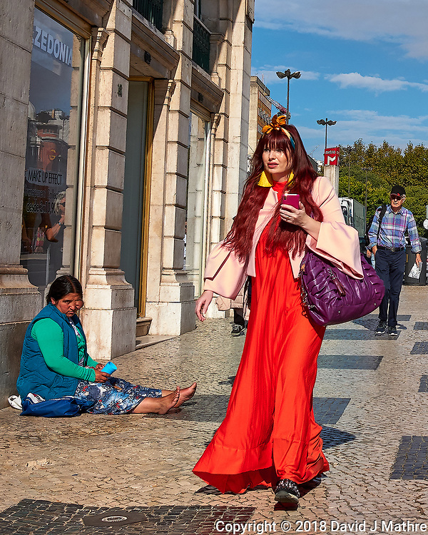Color Contrasts. Morning Street Photography in Lisbon. Image taken with a Leica CL camera and 23 mm f/2 lens. (DAVID J MATHRE)