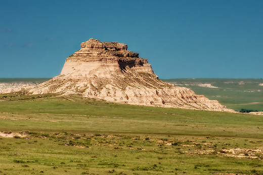 East Pawnee Butte in the Pawnee National Grasslands of Northern Colorado. This fantastic geological feature was only made more beautiful by the numbers of pronghorn antelope and desert wildflowers found dotted around the region. (Rich Leighton)