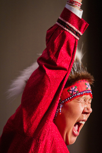 Quyana Alaksa dance celebration, AFN Annual Convention, Dena'ina Convention Center, Anchorage, Alaska (Clark James Mishler)
