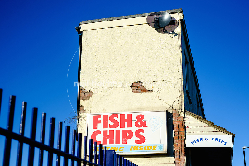 Seafront, Cleethorpes, North East Lincolnshire, United Kingdom, 29 January, 2017. Pictured: Fish & Chips (Neil Holmes)